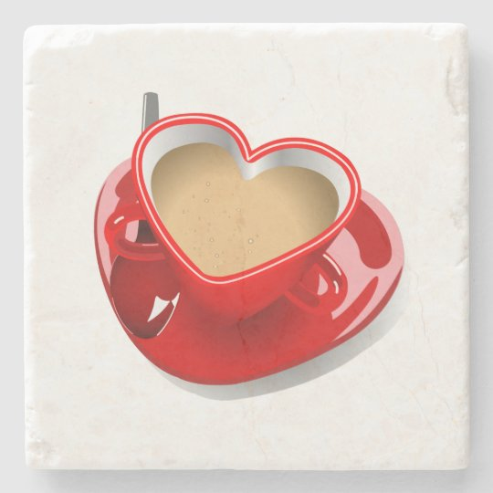 Love tea marble coaster. stone coaster