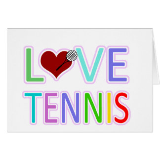 LOVE TENNIS CARD