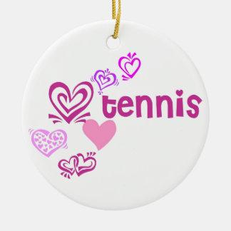 Love Tennis Ceramic Ornament