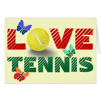 Love Tennis forever personalized Card