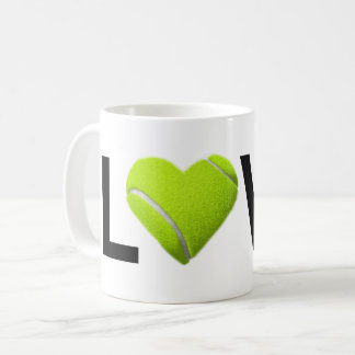 Love Tennis Mug (Tennis Ball Heart)