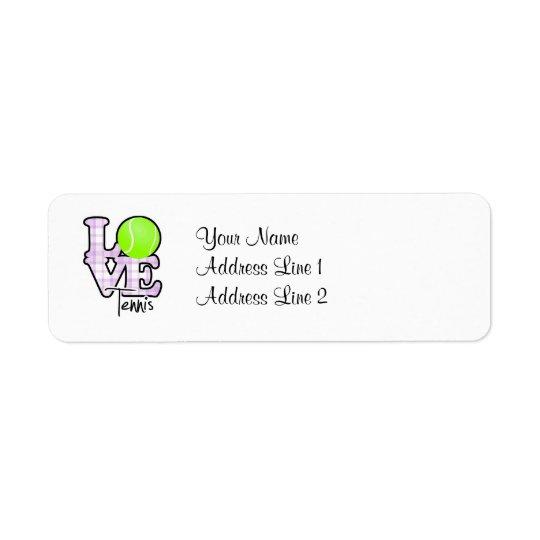 Love Tennis Return Address Label