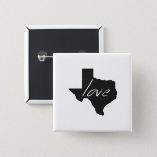 Love Texas 2 Inch Square Button