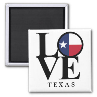 LOVE Texas 2x2 Square Magnet
