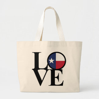 LOVE Texas Cotton Jumbo Grocery Tote