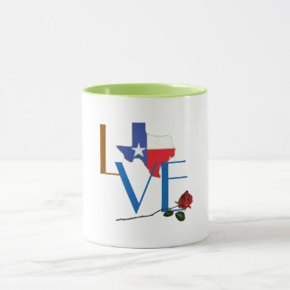 love texas flood relief support coffee mug