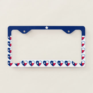 Love Texas Lone Star Heart License Plate Frame