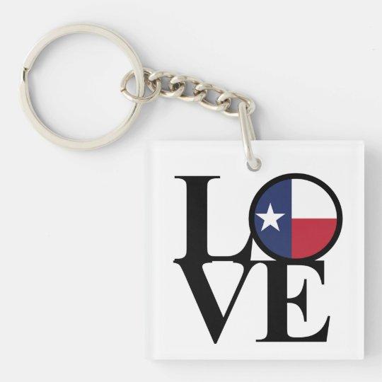 LOVE Texas Lone Star Key Chain Small