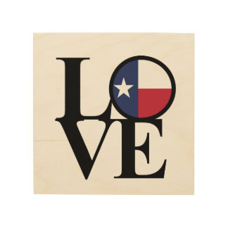 LOVE Texas Lone Star Wood Art