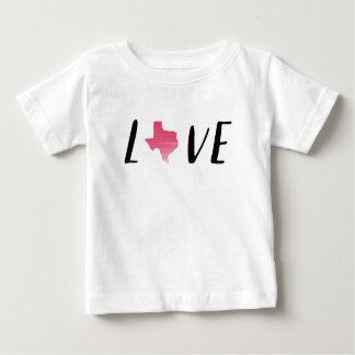 Love Texas Pink Watercolor Toddler Shirt