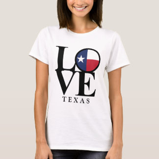 LOVE Texas Womens Basic White Tee