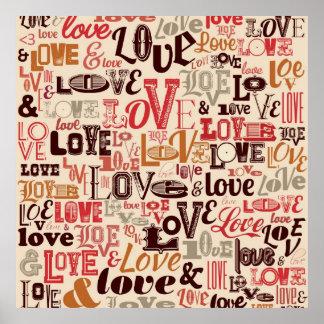 Love Text design Poster