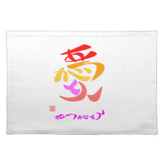 Love thank you 7 colors placemat