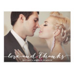 LOVE & THANKS SCRIPT | WEDDING THANK YOU POST CARD