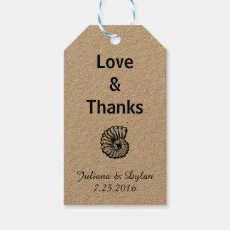 Love & Thanks Sea Shell Gift Tags