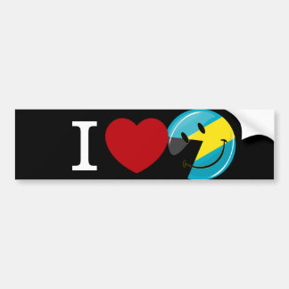 Love the Bahamas Island Pride Bumper Sticker
