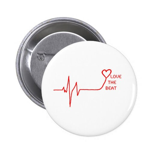 Love the Beat Pinback Button