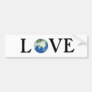 LOVE THE EARTH BUMPER STICKER