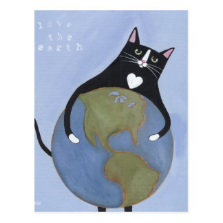 Love The Earth Cat Postcard