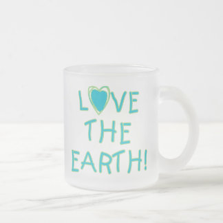 Love the Earth Environmental Frosted Glass Coffee Mug