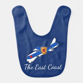 Love The East Coast  Heart N.S. baby bib blue
