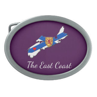 Love The East Coast Heart N.S. belt buckle purple