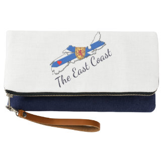 Love The East Coast Heart N.S. clutch bag Indigo