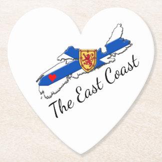 Love The East Coast  Heart N.S coaster