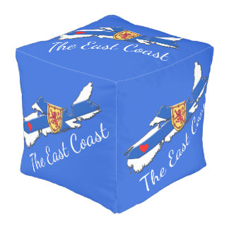 Love The East Coast Heart N.S.  decor pouf blue