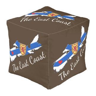 Love The East Coast Heart N.S.  decor pouf brown