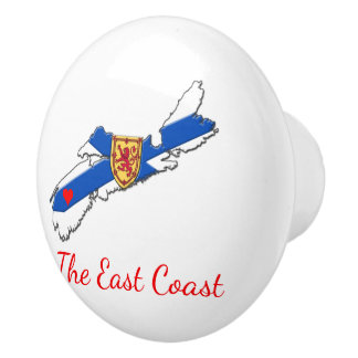 Love The East Coast  Heart N.S drawer pull