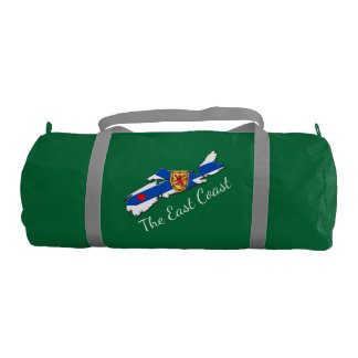 Love The East Coast Heart N.S. gym bag green