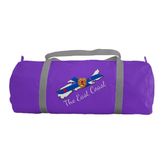 Love The East Coast Heart N.S. gym bag purple