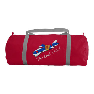 Love The East Coast Heart N.S. gym bag red