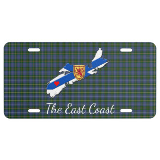 Love The East Coast Heart N.S.license plate tartan