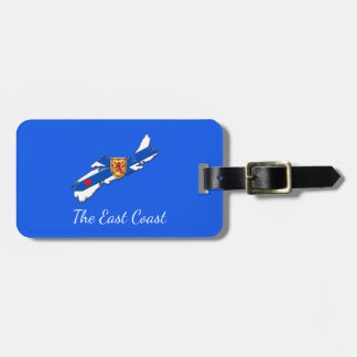 Love The East Coast Heart N.S. luggage tag blue