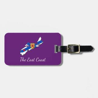 Love The East Coast Heart N.S. luggage tag purple
