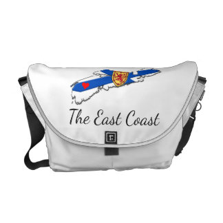 Love The East Coast Heart N.S. messenger  bag Courier Bags