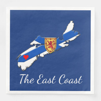 Love The East Coast  Heart N.S   napkins blue Paper Napkin