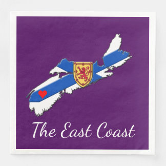 Love The East Coast  Heart N.S   napkins purple Paper Napkins