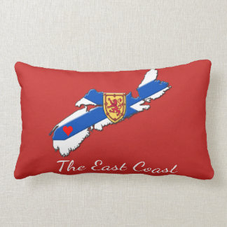Love The East Coast Heart N.S.  pillow red
