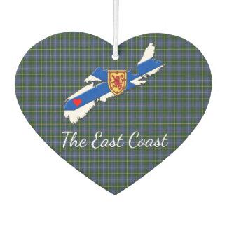 Love The East Coast Heart N.S.tartan Air freshener