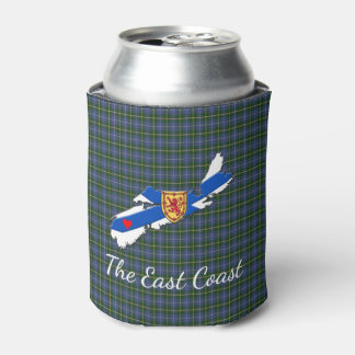 Love The East Coast Heart N.S.tartan can cooler