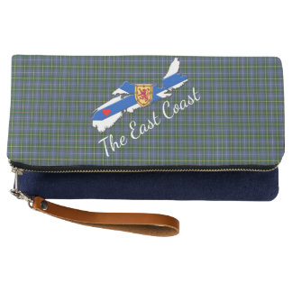 Love The East Coast Heart N.S. tartan clutch bag