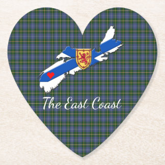 Love The East Coast  Heart N.S Tartan  coaster