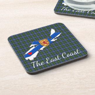 Love The East Coast  Heart N.S Tartan coaster set