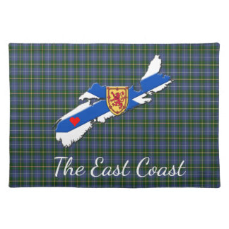Love The East Coast Heart N.S.tartan place mat