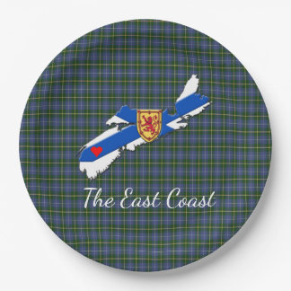 Love The East Coast  Heart N.S Tartan plate