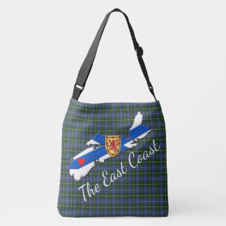 Love The East Coast Heart N.S. tartan shoulder bag