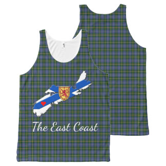 Love The East Coast Heart N.S.tartan tank top